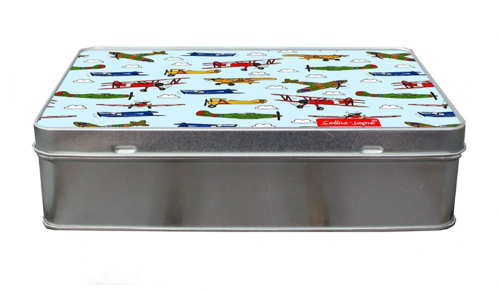 Selina-Jayne Vintage Airplanes Limited Edition Designer Treat Tin